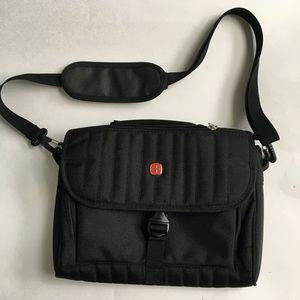 Swiss Gear Cross body Shoulder Bag  Black Padded
